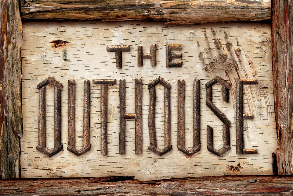 The Outhouse 12 X 18 Wood Sign