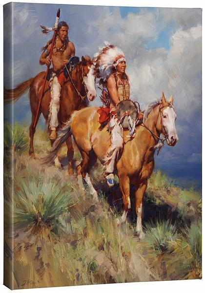 The Return Of Red Cloud Gallery Wrapped Canvas<Br/>24H X 19W Art Collection