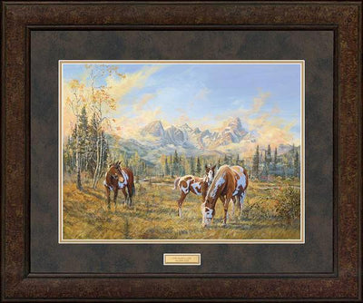 <I>The Simple Life&mdash;horses</i> Gna Premium+ Framed Print<Br/>29H X 35W Art Collection