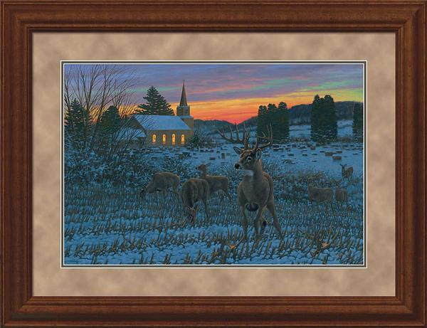 The Stone Church Buck-Whitetail Deer Art Collection