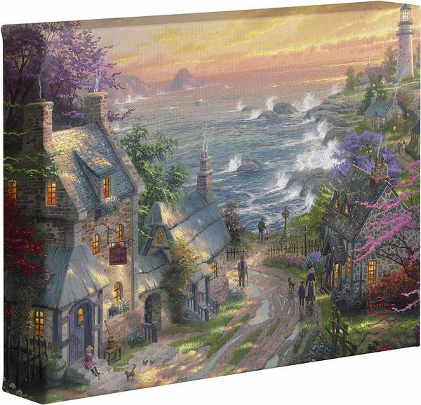 The Village Lighthouse Gallery Wrapped Canvas