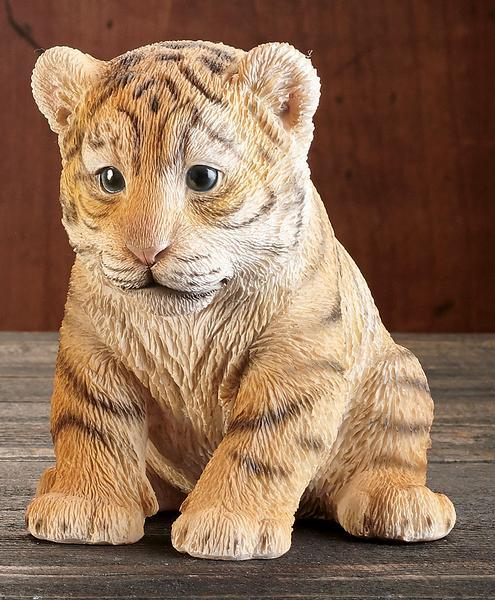 Sitting Tiger Cub Sculpture