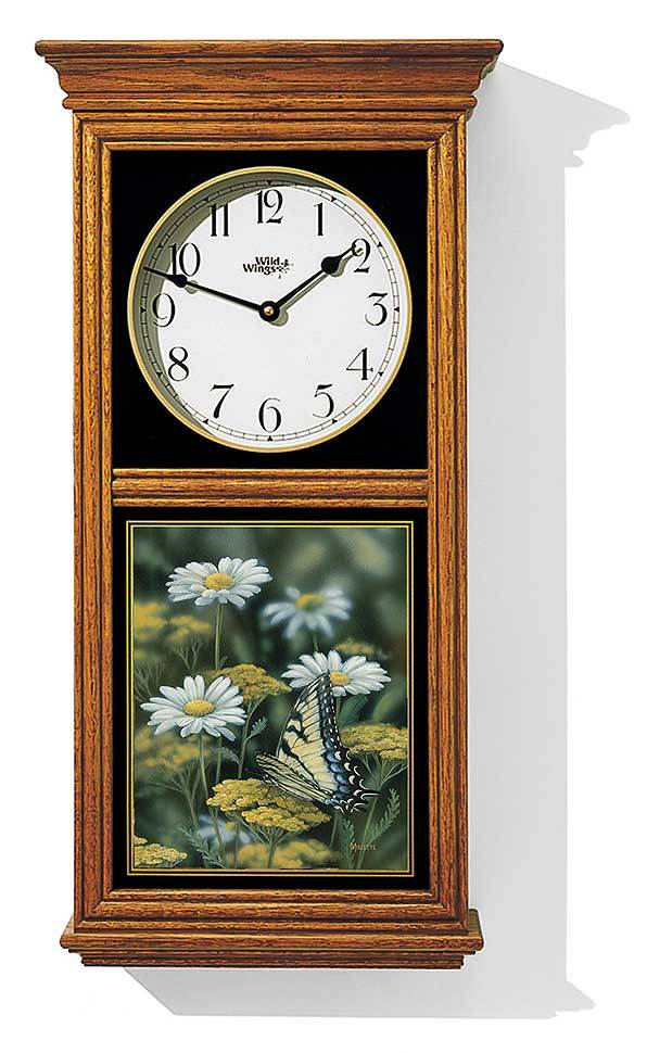 <I>Tiger Swallowtail Butterfly</i> Regulator Clock