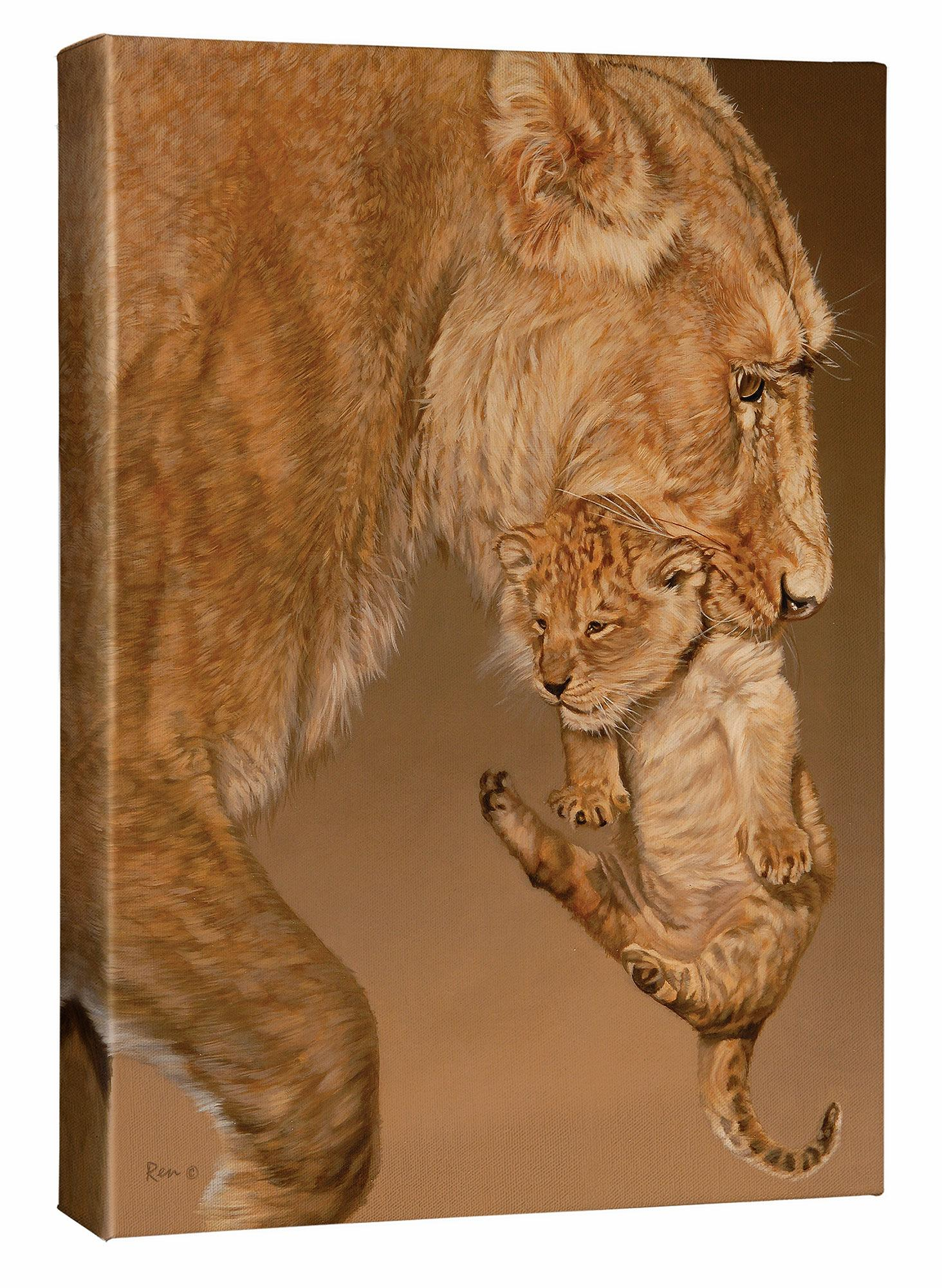 Time Out—Lioness & Cub.