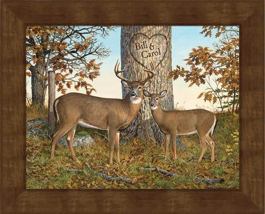 <I>Timeless Magic&mdash;deer</i> Personalized Framed Canvas