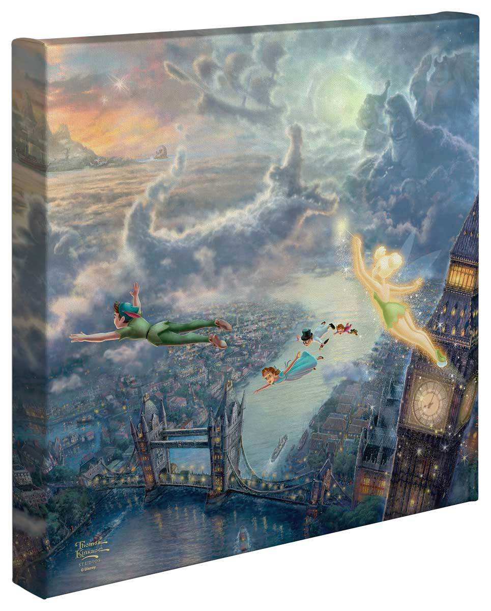 <I>Tinker Bell And Peter Pan Fly To Never Land</i> Gallery Wrapped Canvas