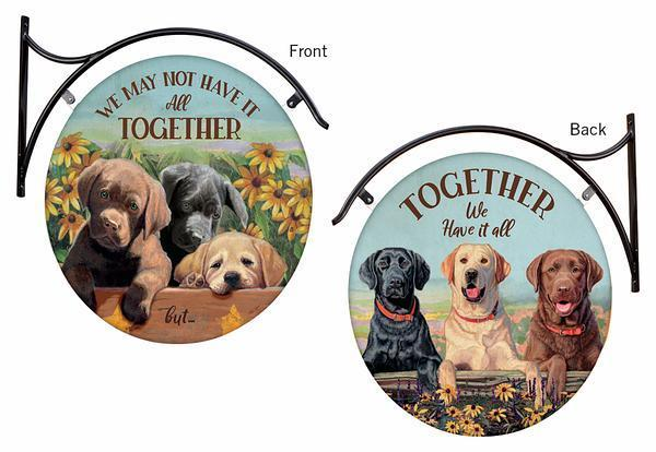 <I>Have It All Together&mdash;dogs</i> Hanging Tin Signs