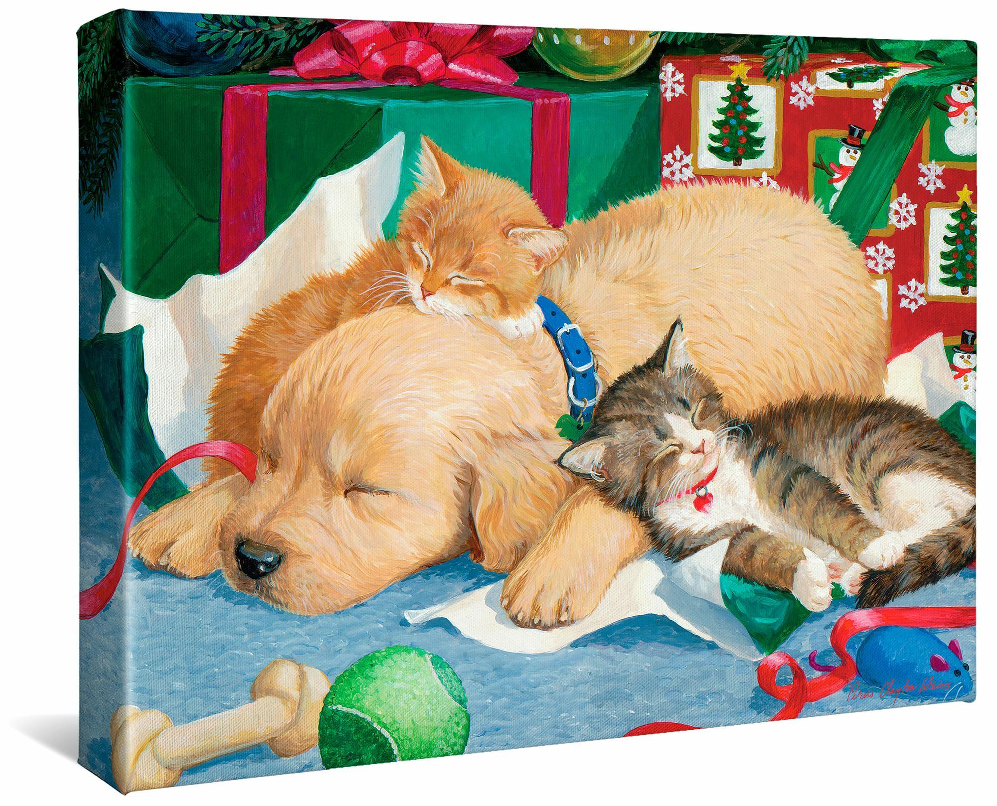 Too Much Fun-Puppy & Kittens Gallery Wrapped Canvas