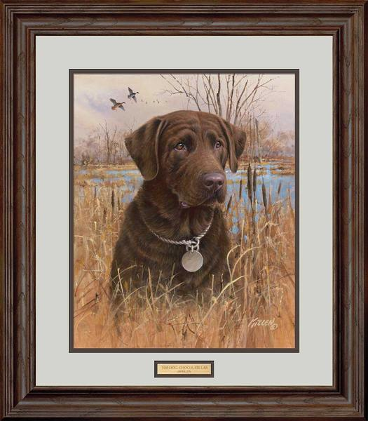 Top Dog-Chocolate Lab Art Collection