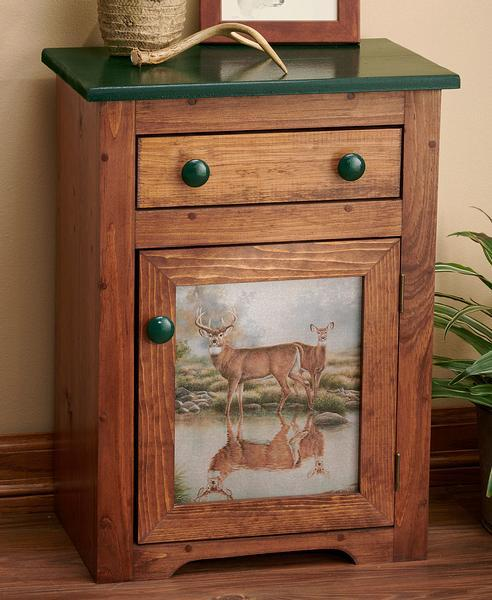 Tranquil Waters—deer Cabinet