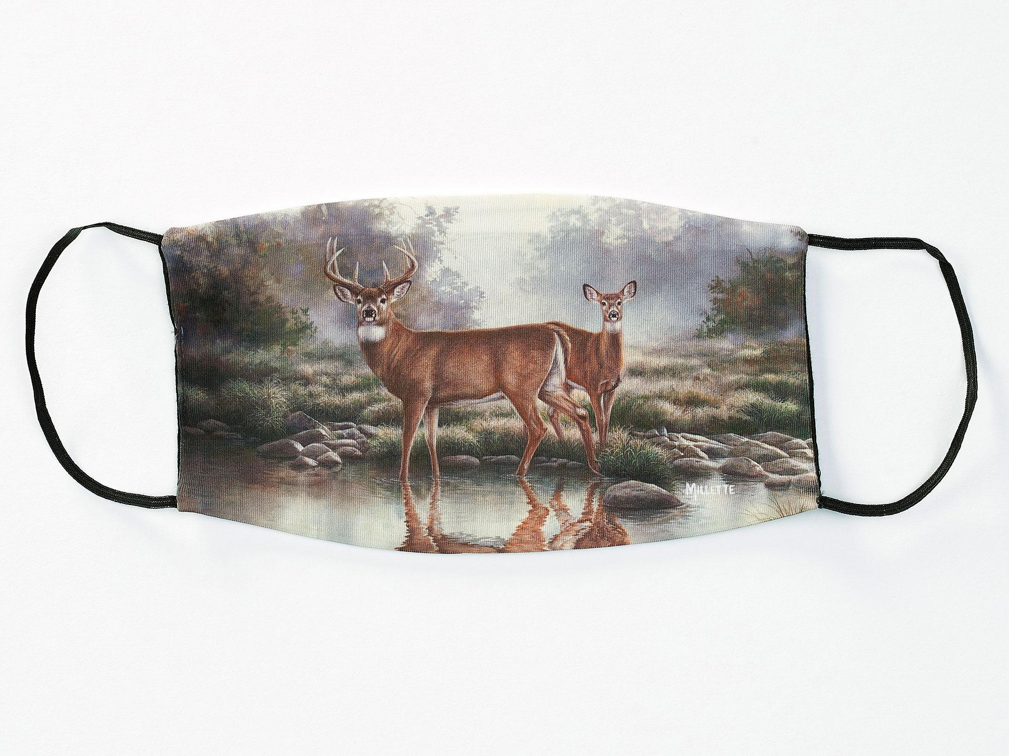 Forest Waters-White-tailed Deer Face Mask