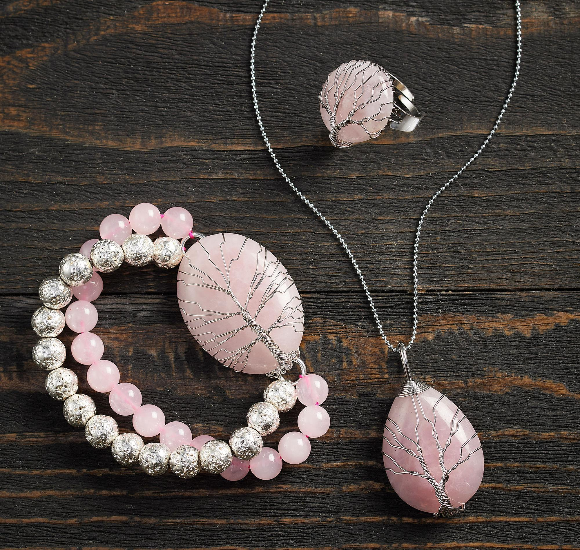 Tree of Life—Rose Quartz