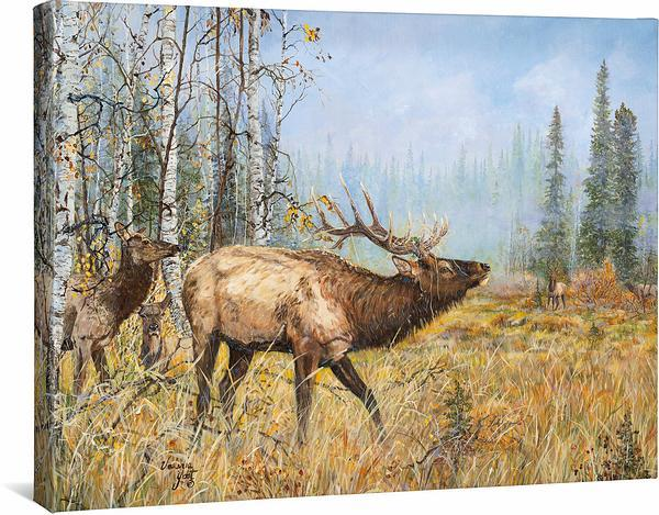 <I>Trouble Brewin&mdash;elk</i> Gallery Wrapped Canvas