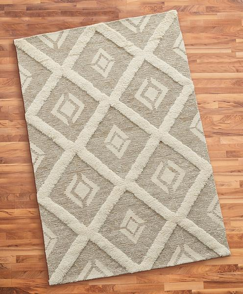 Tufted Diamond Area Rug