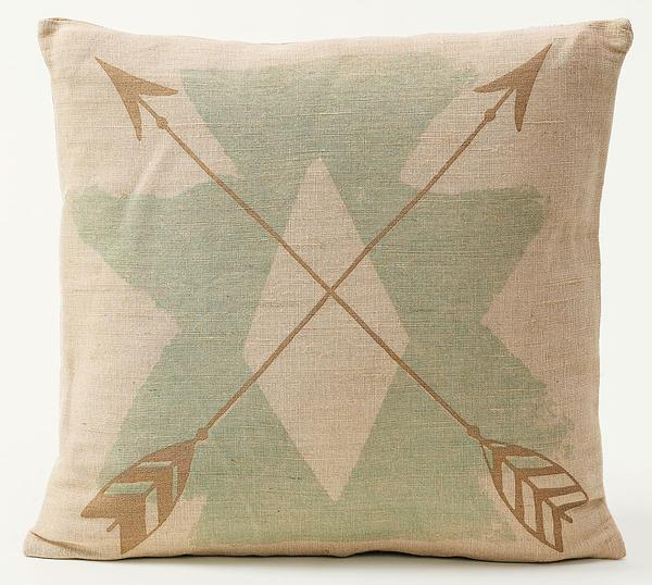 Arrows And Turquoise Pillow