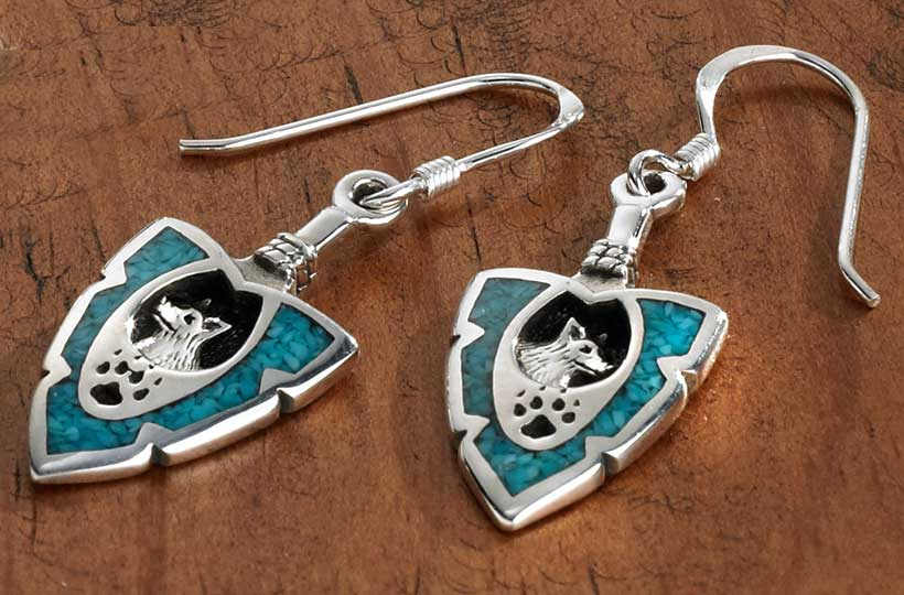 Silver & Turquoise Wolf