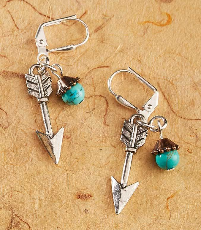 Turquoise & Pewter Arrow.