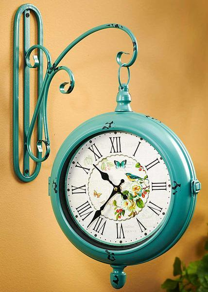 Cottage Turquoise Wall Clock