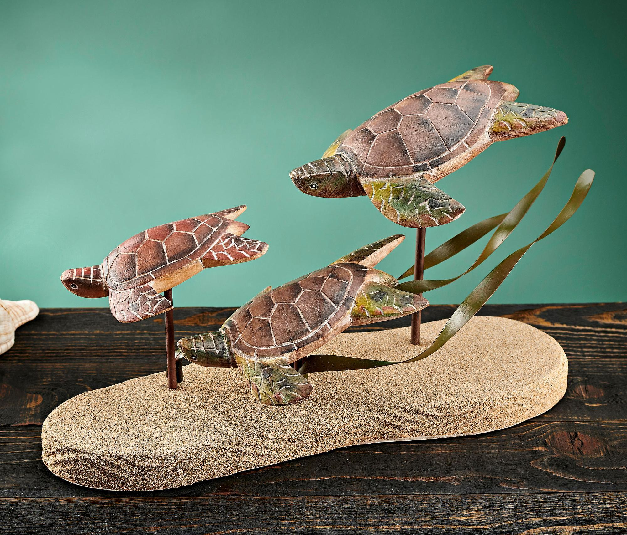 Turtle Trio Tabletop Sculpture