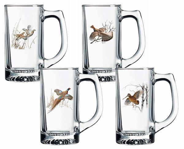Upland Gamebirds Stein Glasses