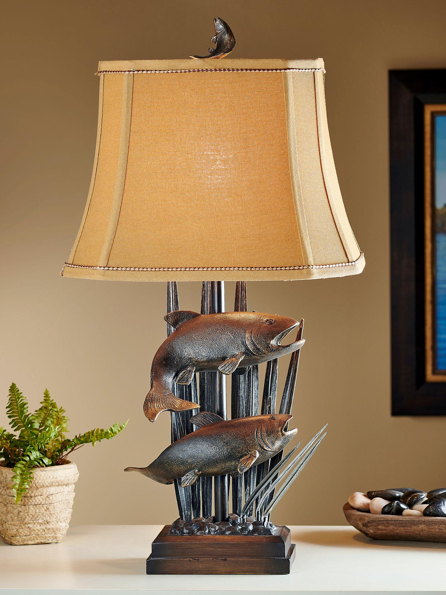 Swimming Upstream Table Lamp