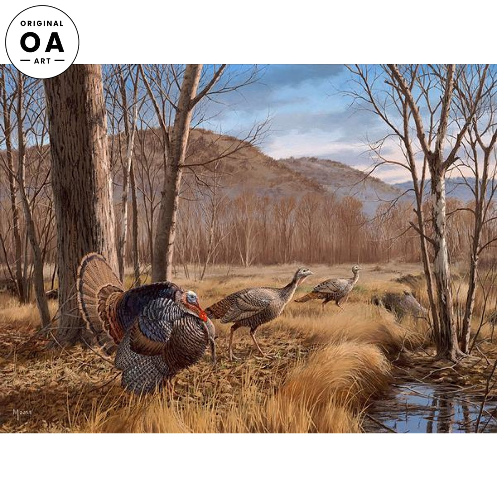 <i>Valley View&mdash;Turkeys</i> Original Artwork