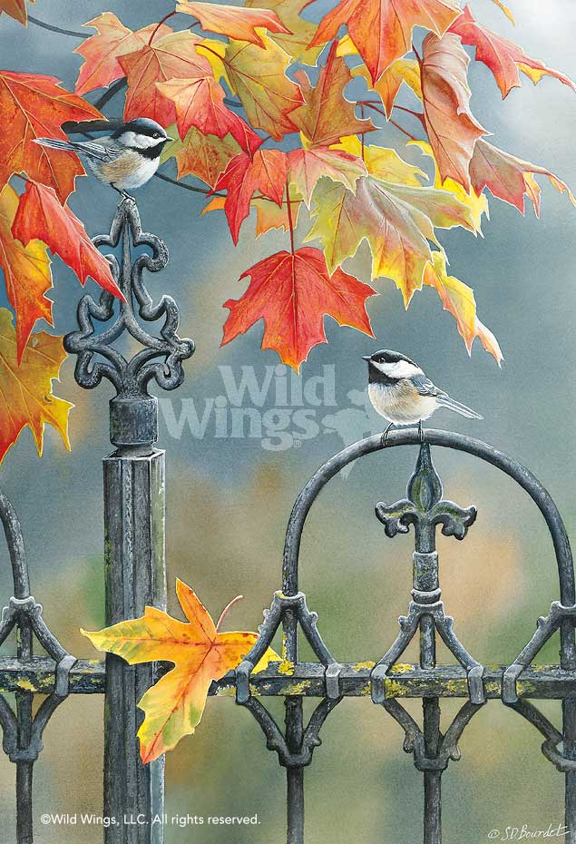 Victorian Seasons; Fall-Chickadees Art Collection