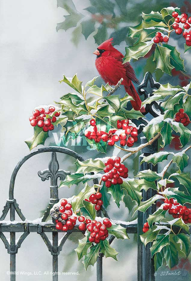 Victorian Seasons; Winter-Cardinal Art Collection
