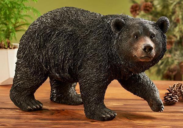 Walking Black Bear Sculpture