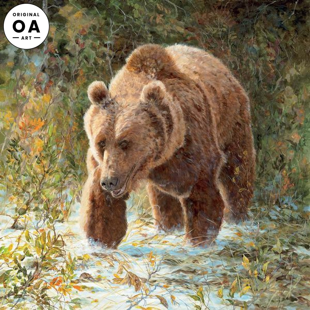 Walks Alone—Grizzly Original Artwork