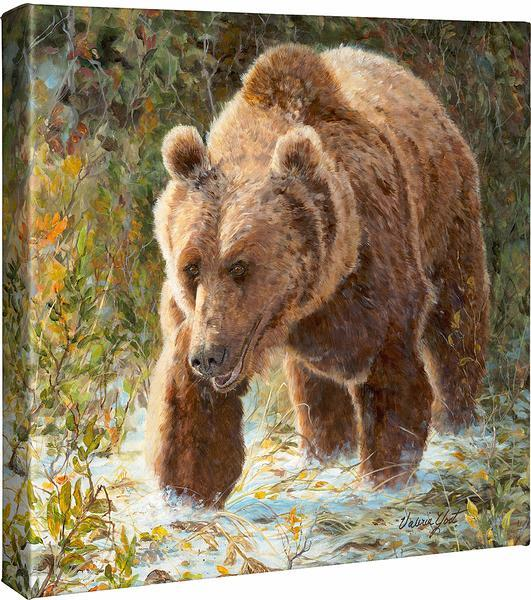 <I>Walks Alone&mdash;grizzly</i> Gallery Wrapped Canvas