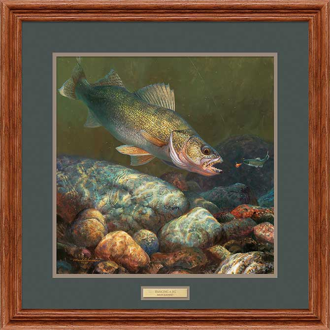 Dancing a Jig-Walleye Art Collection