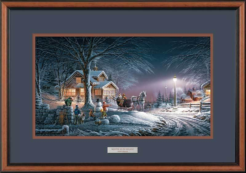 Winter Wonderland Framed Encore Print<Br/>17.5H X 24W Art Collection