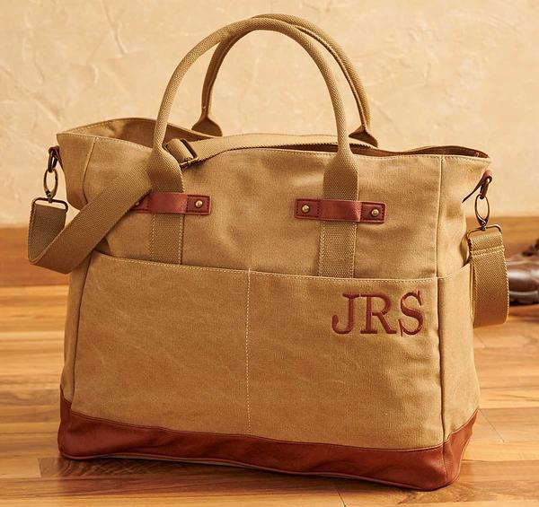Washed Camel Canvas Tote