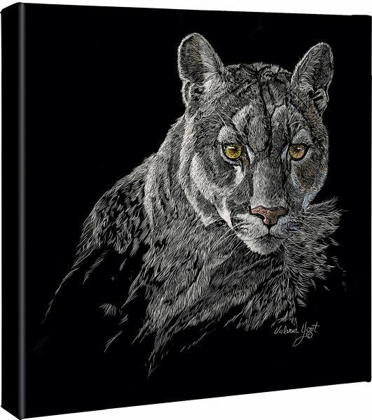 <I>Watchful Eyes&mdash;cougar</i> Gallery Wrapped Canvas