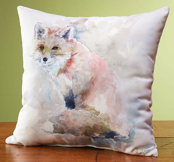 Watercolor Fox Pillow