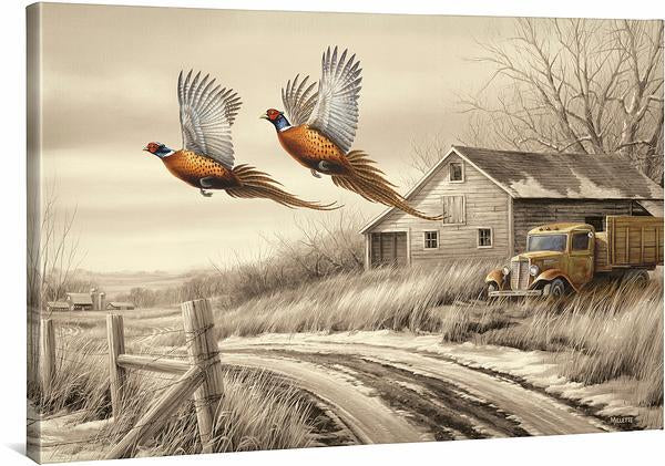 <i>Weathered Memories&mdash;Pheasants</i>