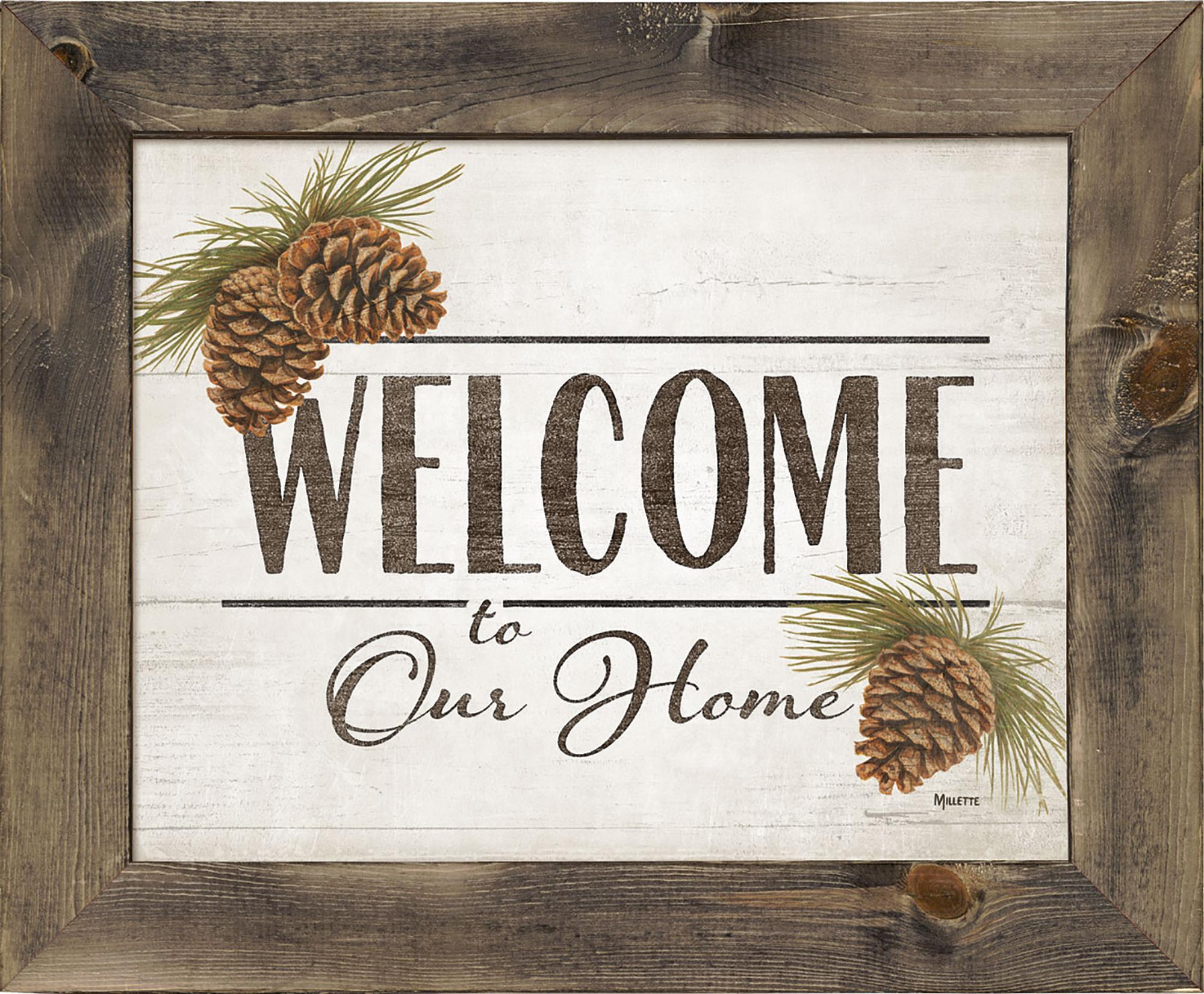 Welcome to Our Home—Pinecones.