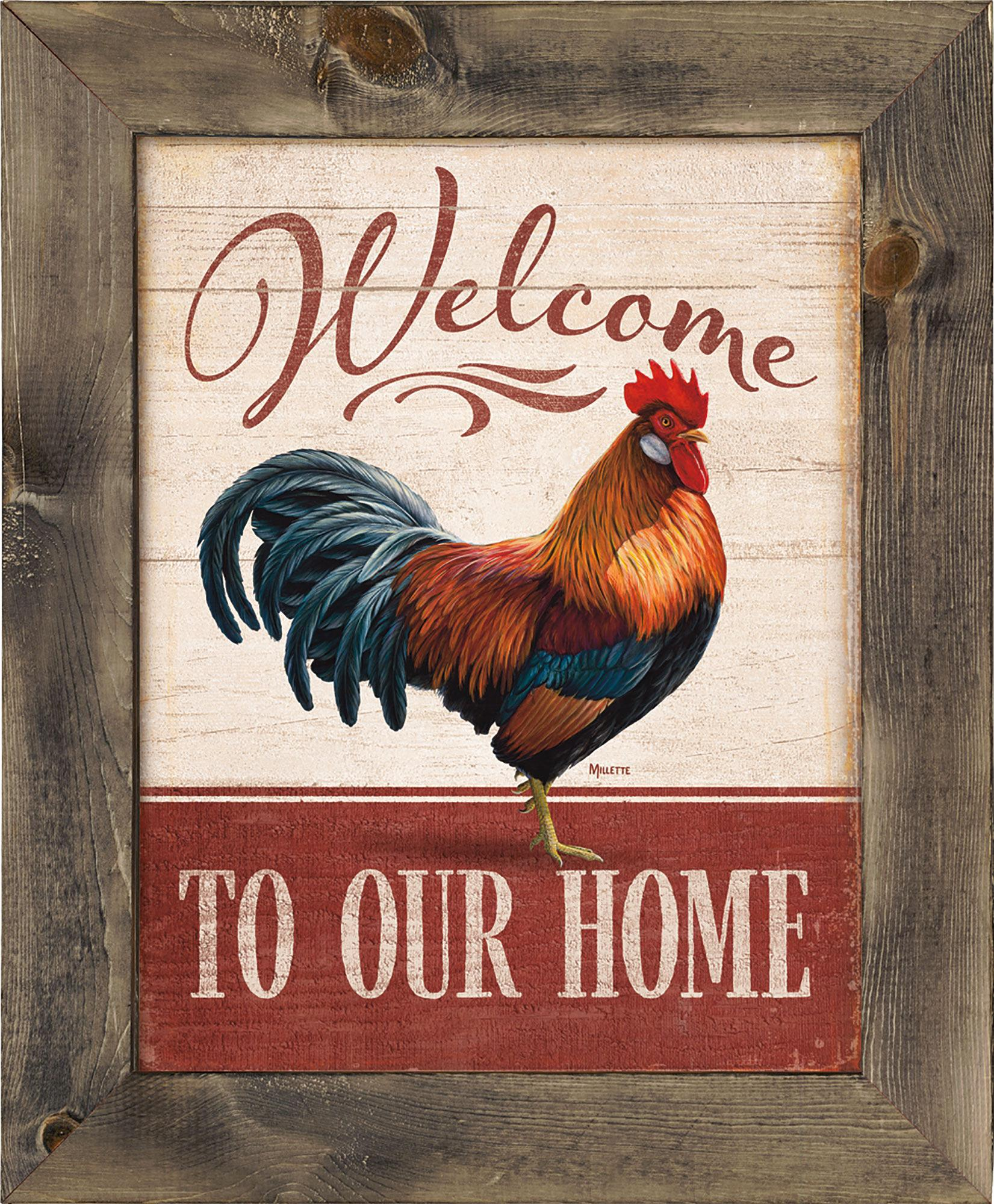 Welcome to our Home—Rooster.