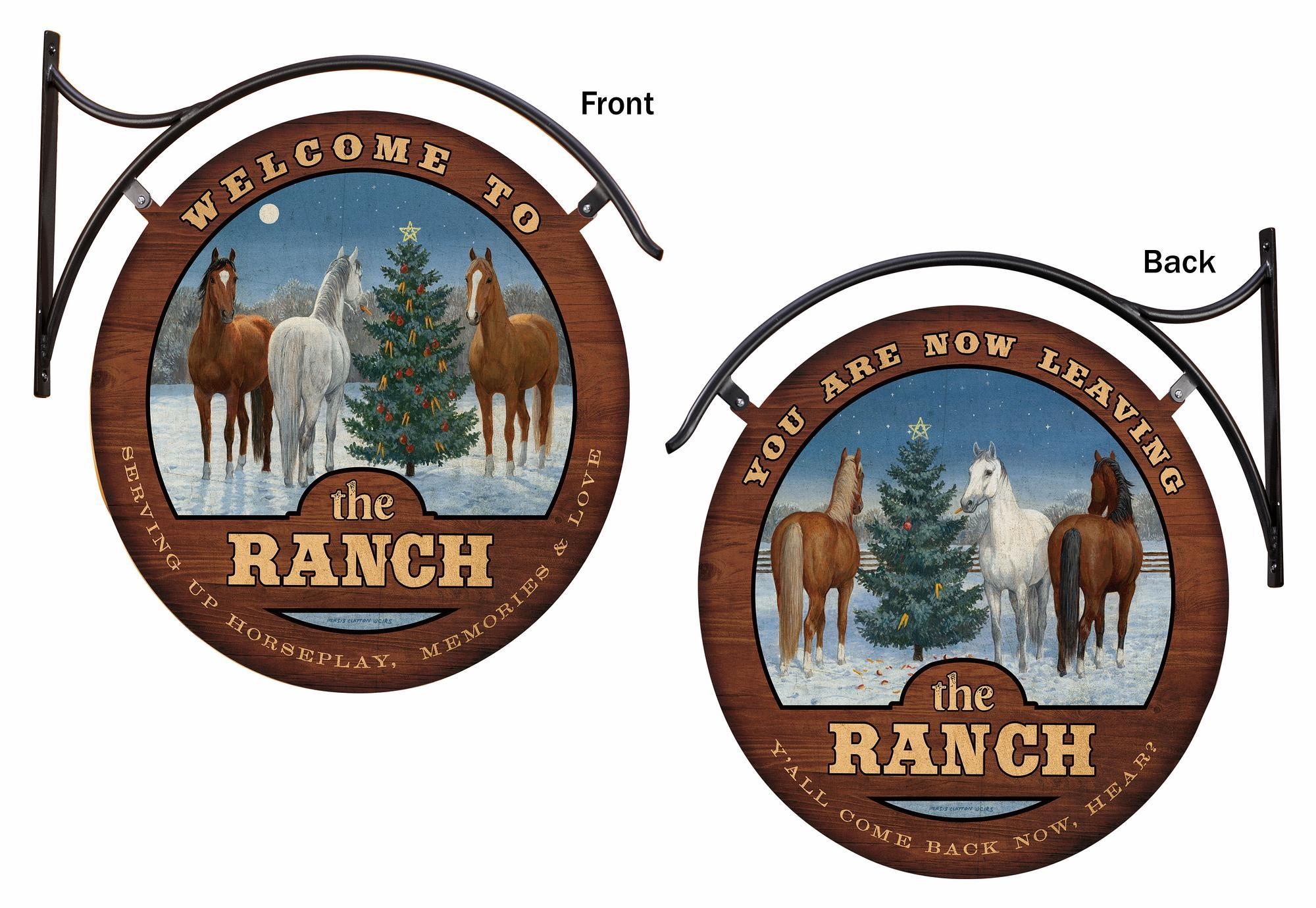 Welcome to the Ranch Hanging Tin Signs