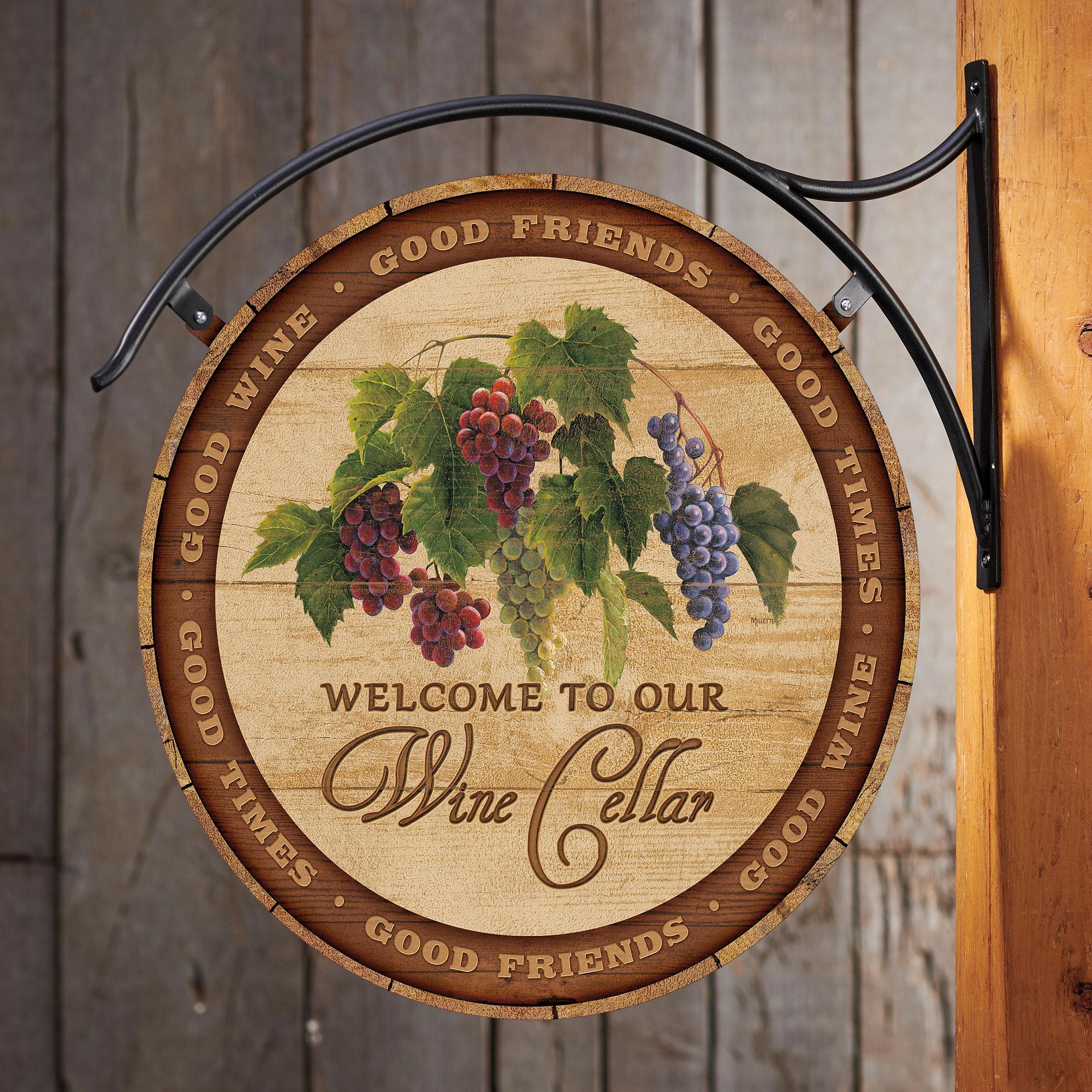 Welcome to Our Wine Cellar Hanging Tin Signs