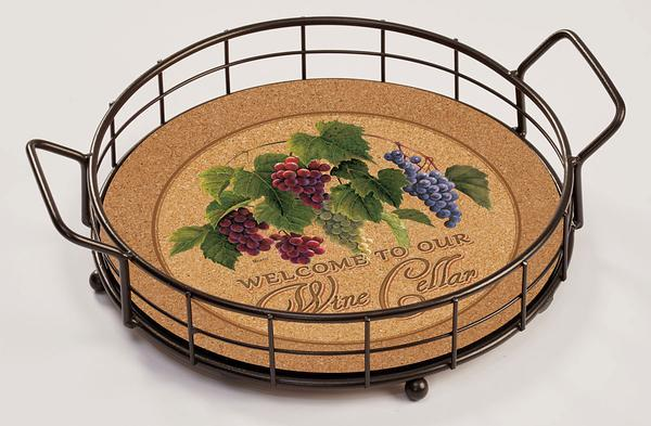 <I>Welcome Wine Cellar&mdash;grape Vine</i> Serving Tray