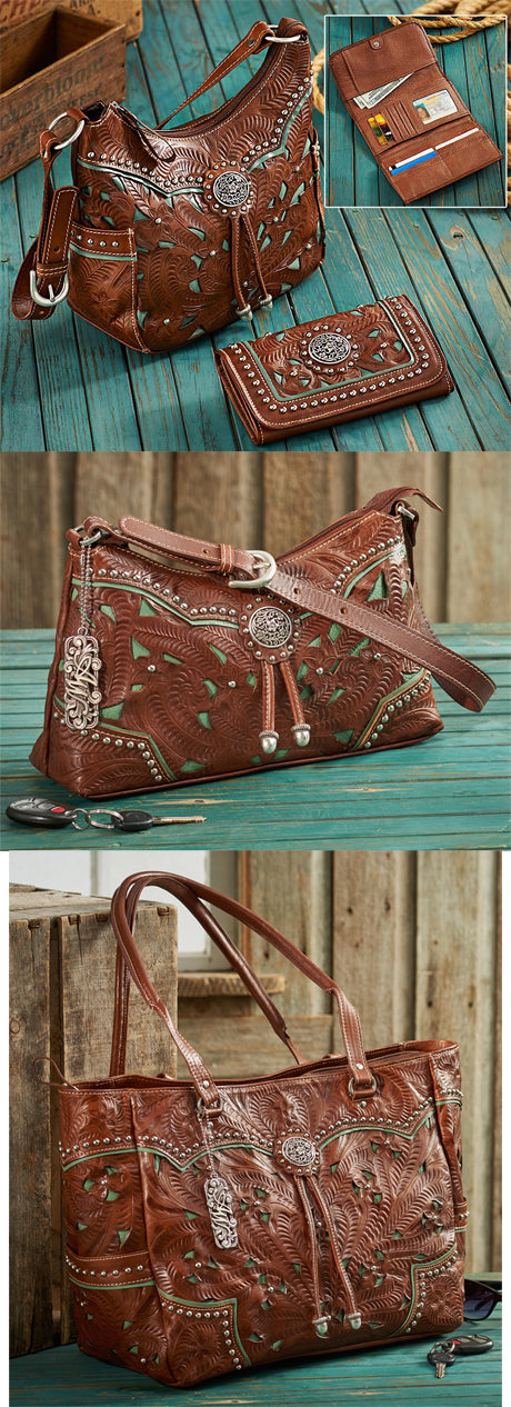 Western Leather Bag & Wallet Collection