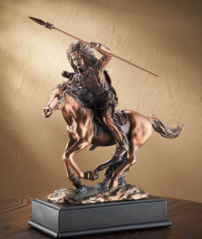 American Indian On Horse Sculpture