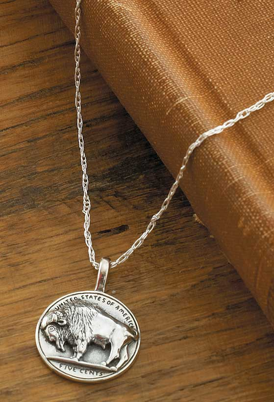 Silver Buffalo Nickel Necklace