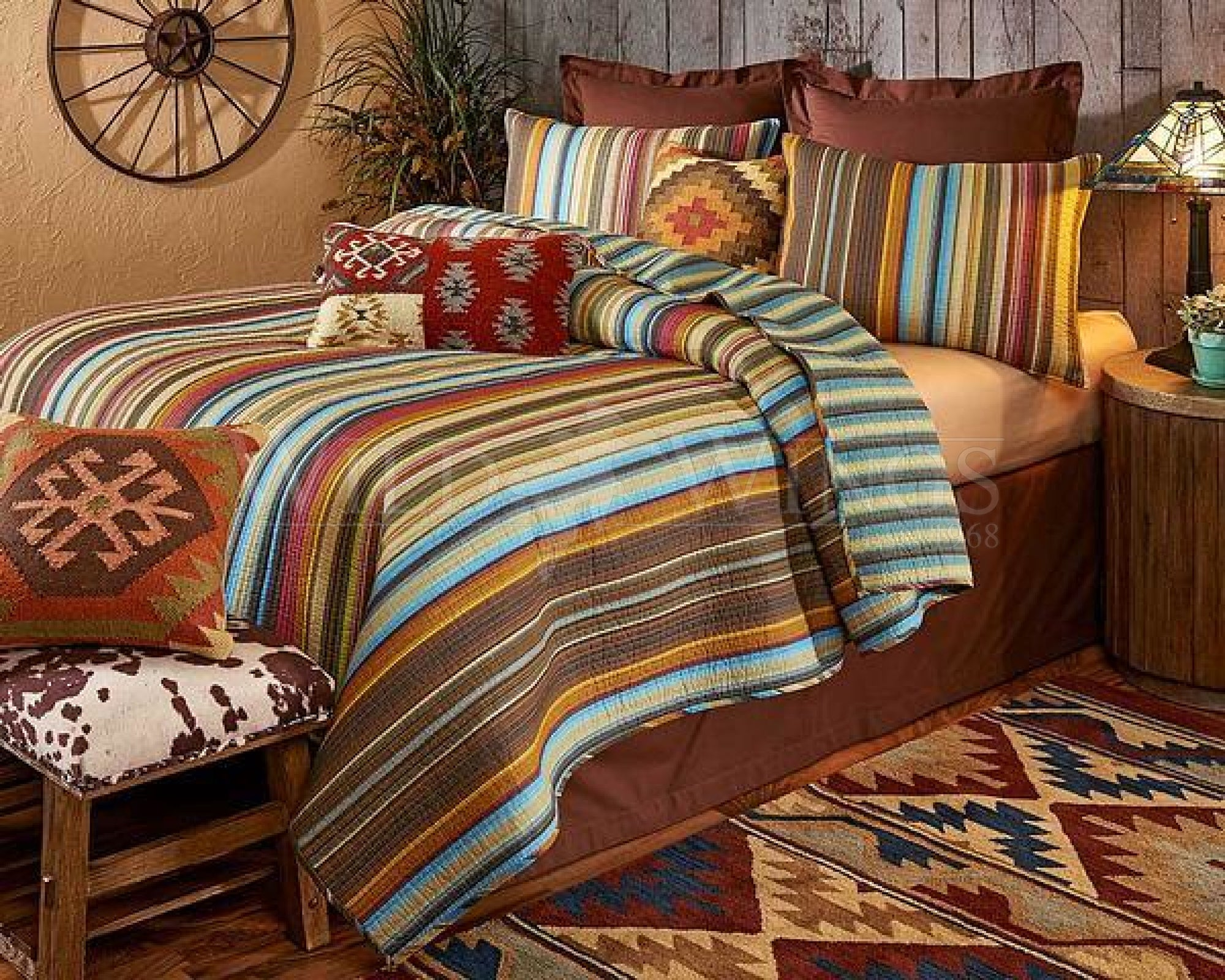 Western Stampede Bedding Set (King)