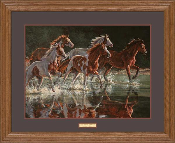 <I>Wet Paints Forever&mdash;horses</i> Gna Premium Framed Print<Br/>25H X 31W Art Collection