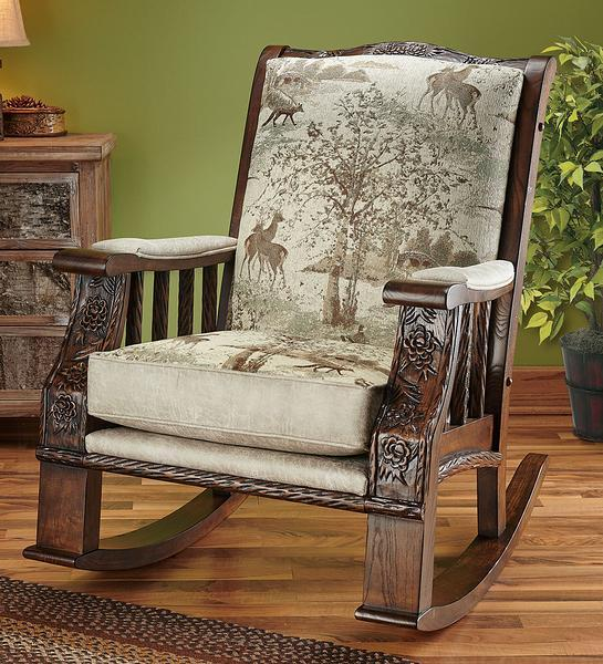 Whitetail Buck & Friends Rocking Chair