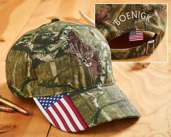 <I>Mossy Oak Camo&mdash;deer</i> Personalized Cap