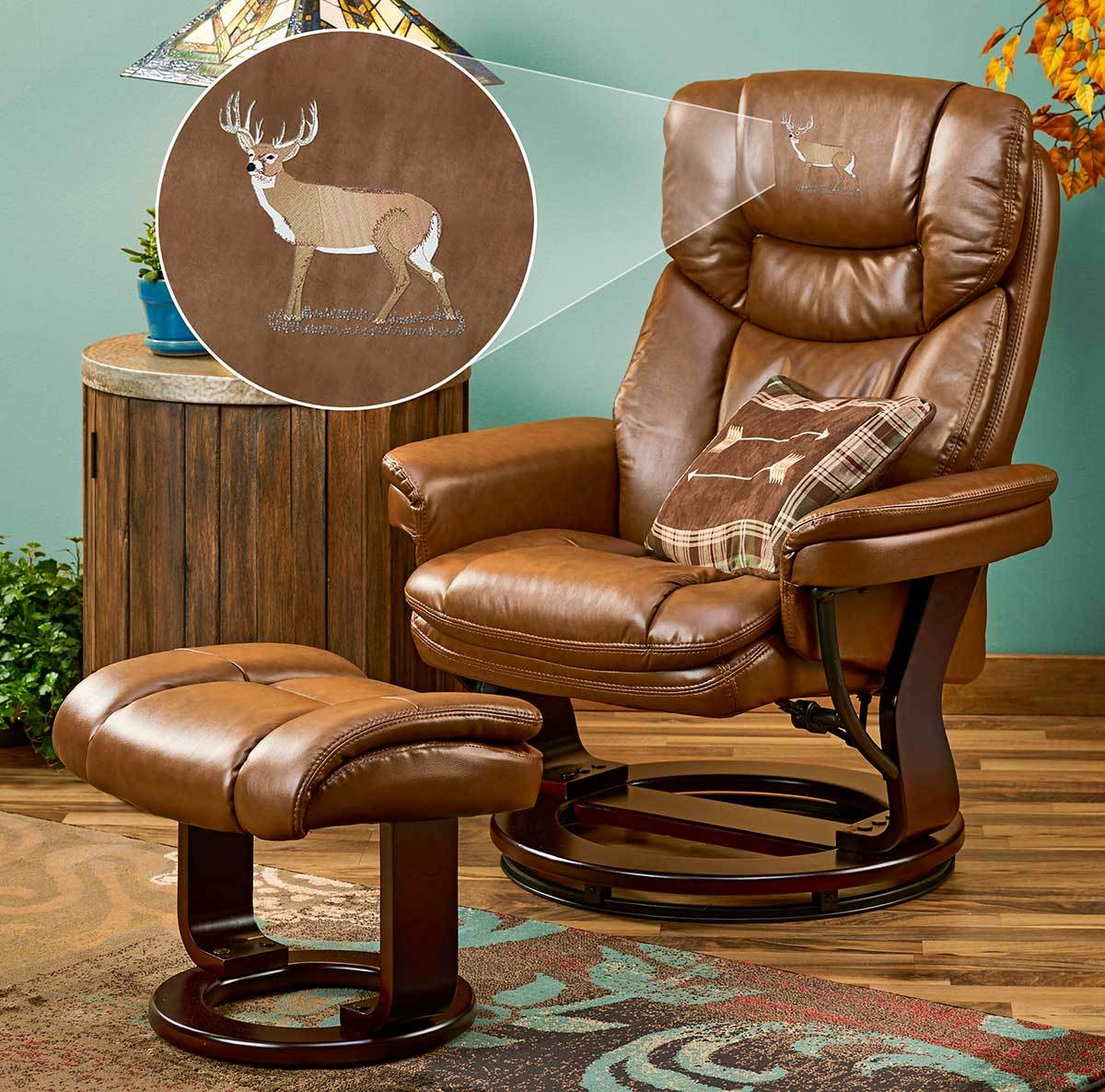 Whitetail Deer Swivel Chair & Stool